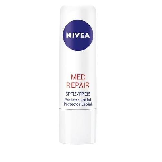 Imagem de Protetor solar labial nivea 4,8g lip care fps15 med protection