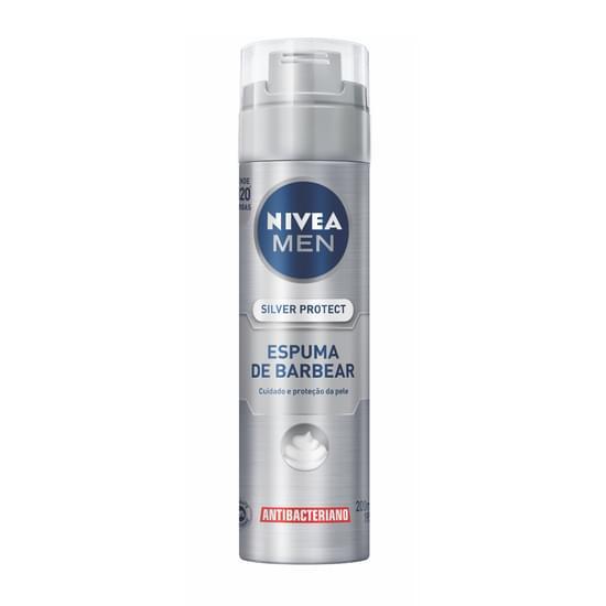 Imagem de Espuma de barbear em tubo nivea 200ml silver protect