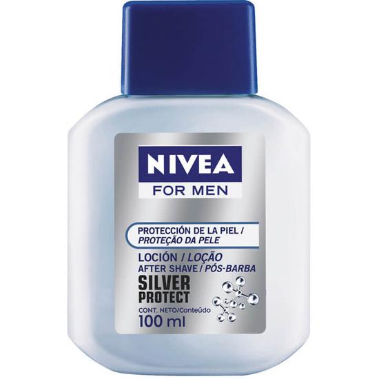 Imagem de Loção facial pós barba nivea 100ml silver protec