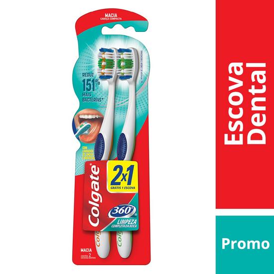 Imagem de Escova dental macia colgate c/2 leve2 pague1 360