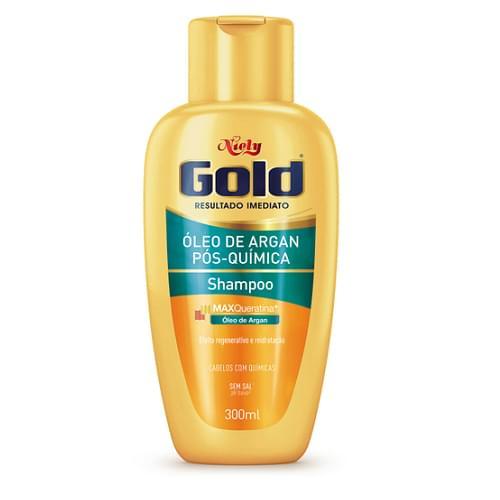 Imagem de Shampoo uso diário niely gold 300ml pós-química sem sal