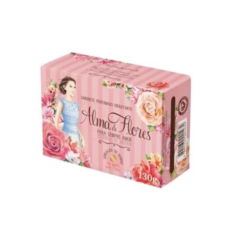 Imagem de Sabonete em barra perfumado alma de flores 130g jasmim