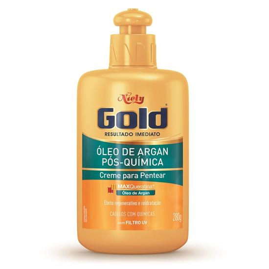 Imagem de Creme para pentear niely gold 280g pós-química