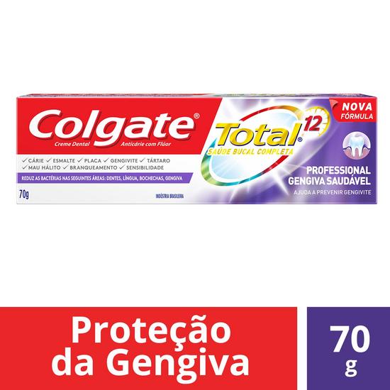 Imagem de Creme dental terapeutico colgate 70g total 12 professional gengiva