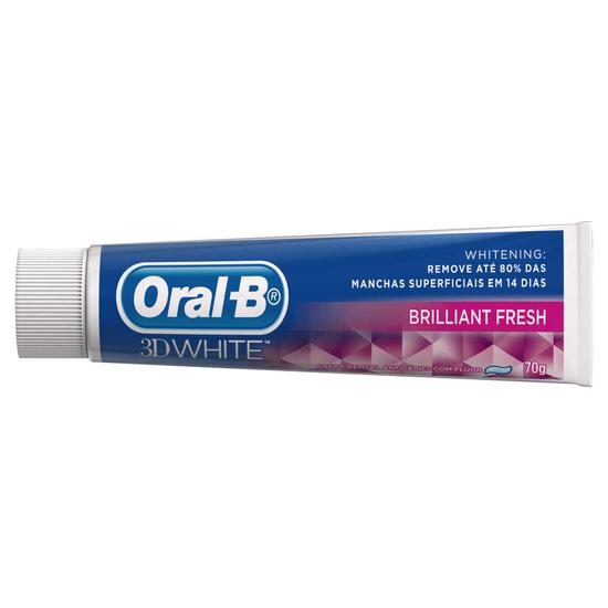 Imagem de Creme dental branqueador oral-b 70g 3d white brilhant fresh