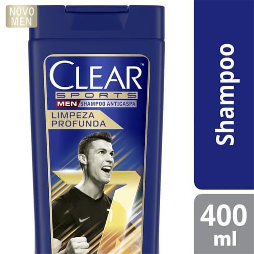 Imagem de Shampoo anti caspa clear 400ml sports limpeza profunda