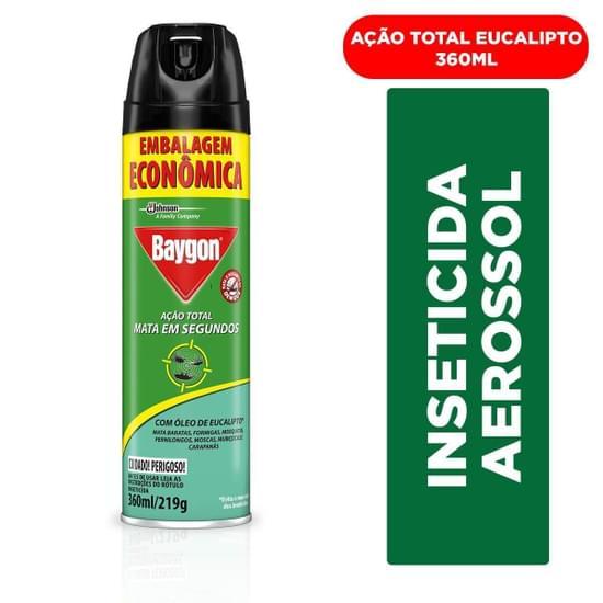 Imagem de Inseticida aerosol baygon 360ml ação total eucalipto
