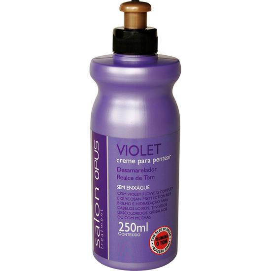 Imagem de Creme para pentear salon opus 250ml violet
