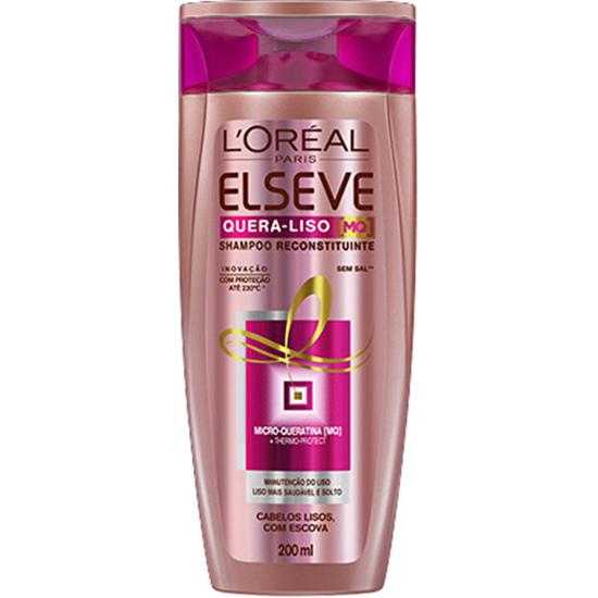 Imagem de Shampoo uso diário elséve 200ml quera liso 230°c