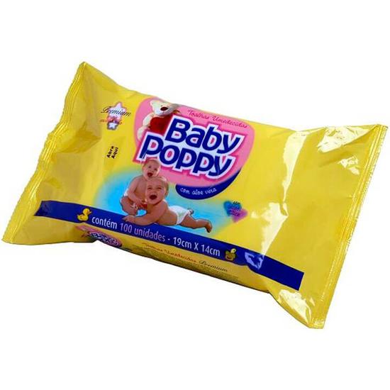 Imagem de Lenço umedecido sache baby poppy c/100