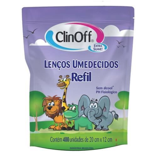 Imagem de Lenço umedecido refil clin off c/400