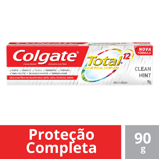 Imagem de Creme dental terapeutico colgate 90g total 12 clean mint