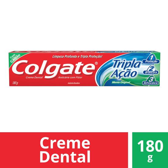 Imagem de Creme dental tradicional colgate 180g tripla ação
