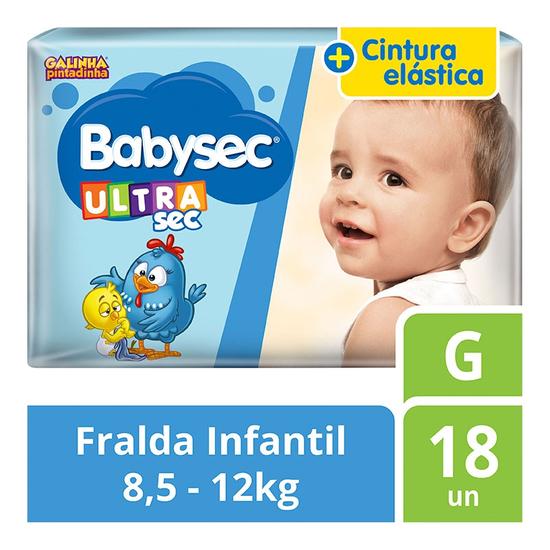 Imagem de Fralda infantil babysec c/16 ultra jumbinho g
