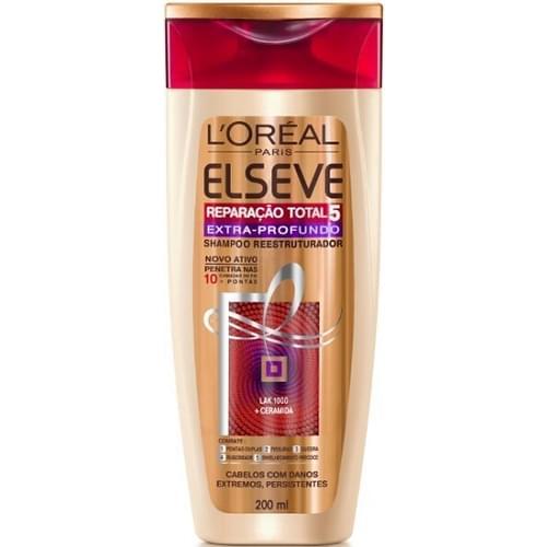 Imagem de Shampoo uso diário elséve 200ml reparação total5 extra profundo