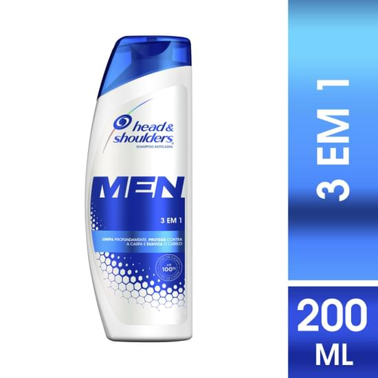Imagem de Shampoo anti caspa head  shoulders 200ml 3x1