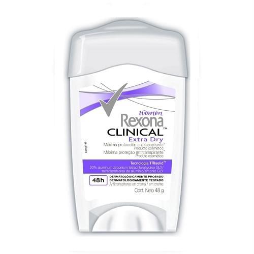 Imagem de Desodorante em creme rexona 48g feminino clinical extra dry