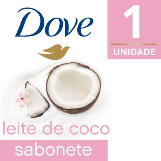 Imagem de Sabonete em barra uso diário dove 90g leite de coco