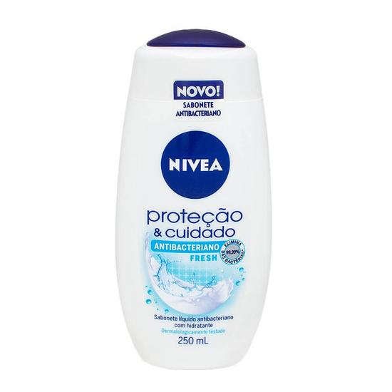 Imagem de Sabonete líquido uso diário nivea 250ml antibacteriano fresh