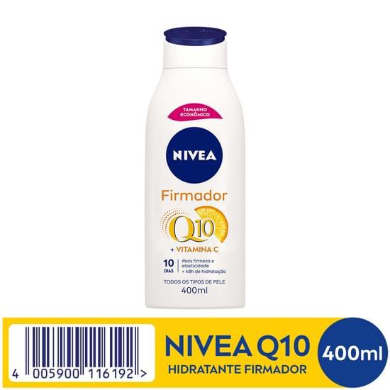 Imagem de Loção corporal hidratante nivea 400ml firmadora q10 plus