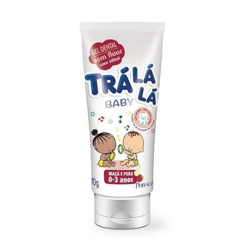 Imagem de Creme dental gel trá lá lá 70g sem flúor tutti-frutti