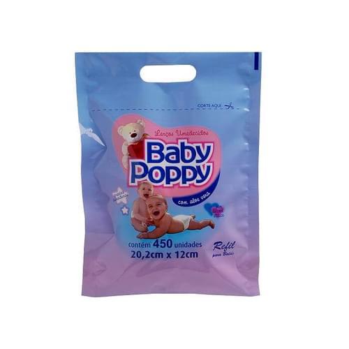 Imagem de Lenço umedecido pote baby poppy c/450 refil