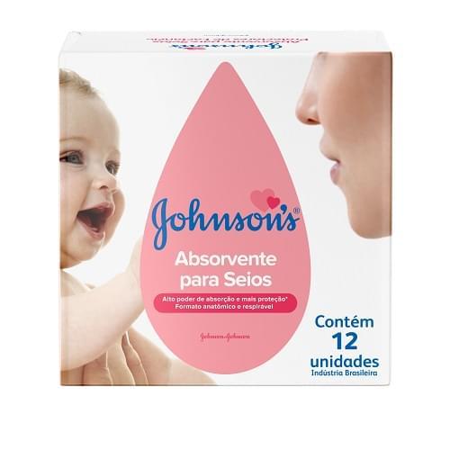 Imagem de Protetor de seio absorvente johnson johnson c/12