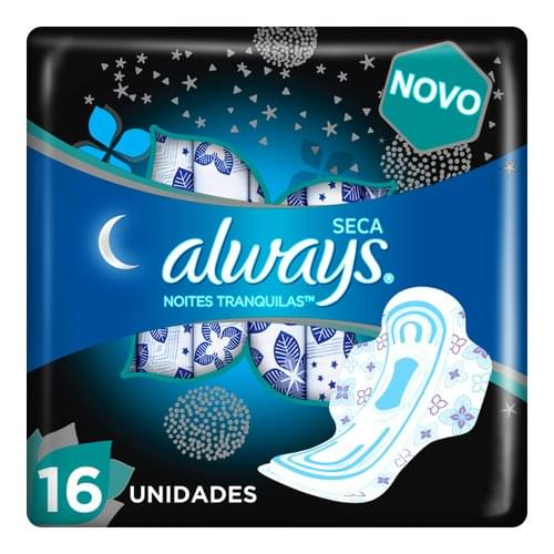 Imagem de Absorvente com abas always proteção total noturno leve 16 pague 14