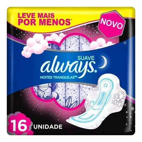 Imagem de Absorvente com abas always proteção total pink noturno l16 p14