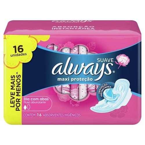 Imagem de Absorvente com abas always protecao total pink leve 16 pague 14