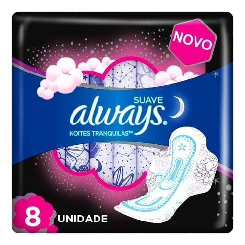 Imagem de Absorvente com abas always c/8 pink noturno