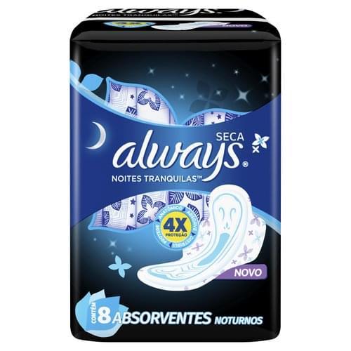Imagem de Absorvente com abas always c/8 active noturno