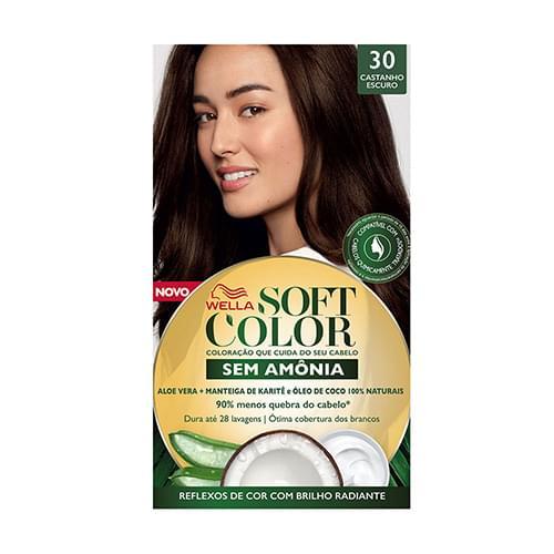Imagem de Tintura semi permanente soft color 30 castanho escuro