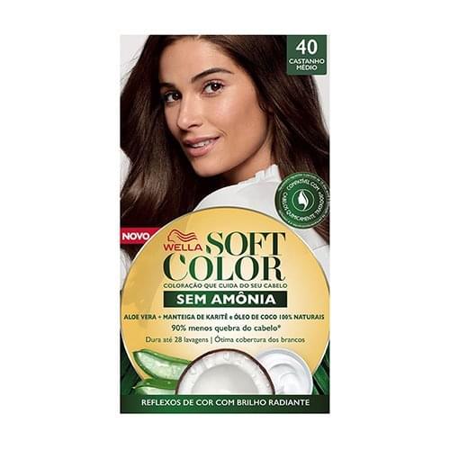 Imagem de Tintura semi permanente soft color 40 castanho médio