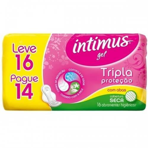 Imagem de Absorvente com abas intimus gel leve 16 pague 14 seca