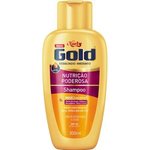 Imagem de Shampoo uso diário niely gold 300ml nutrição poderosa