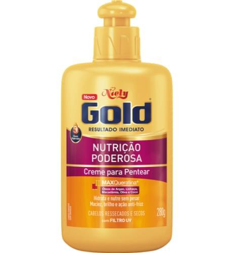 Imagem de Creme para pentear niely gold 280g nutrição poderosa