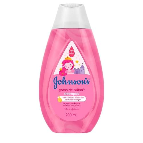 Imagem de Shampoo infantil johnson johnson 200ml gotas de brilho