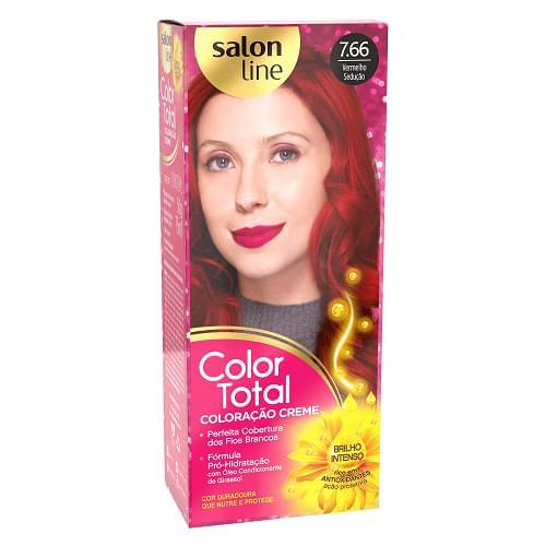 Imagem de Tintura permanente color total 7.66 vermelho seducao