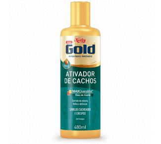 Imagem de Ativador tratamento niely gold 480ml cachos