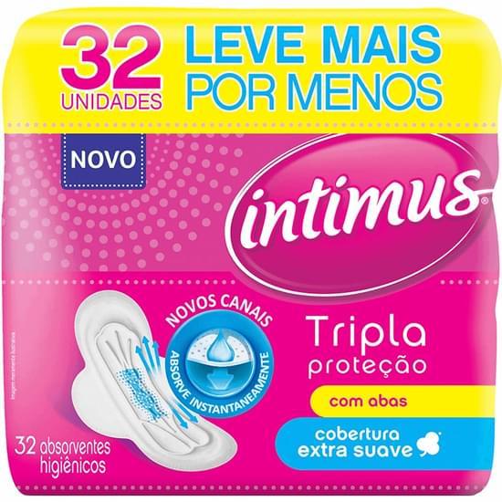 Imagem de Absorvente com abas intimus gel c/32 tri protect suave