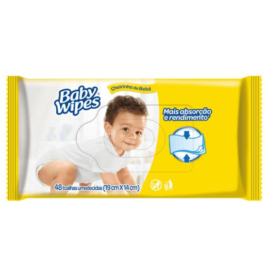 Imagem de Lenço umedecido refil baby wipes c/48
