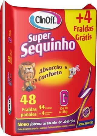 Imagem de Fralda infantil clin off c/48 super sequinho mega g pc