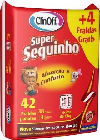 Imagem de Fralda infantil clin off c/42 super sequinho mega xg pc