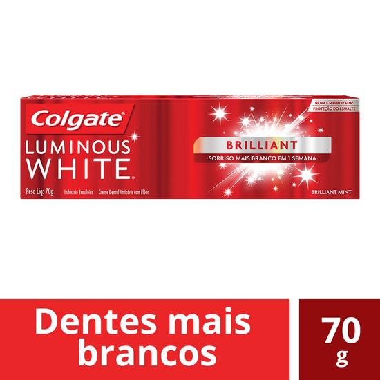 Imagem de Creme dental terapeutico colgate 70g luminous white brilhante