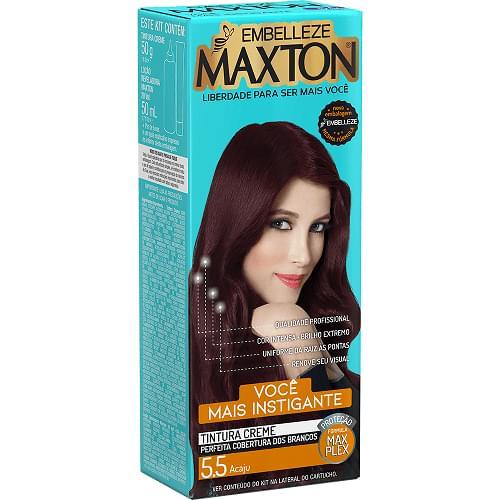 Imagem de Tintura permanente maxton 5.5 vermelho acaju