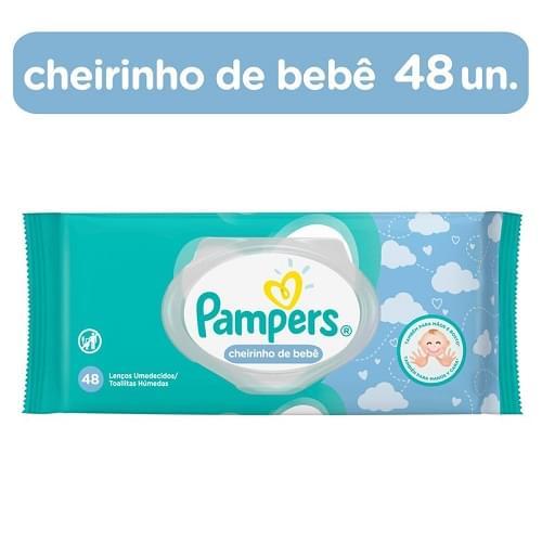 Imagem de Lenço umedecido sache pampers c/48 regular