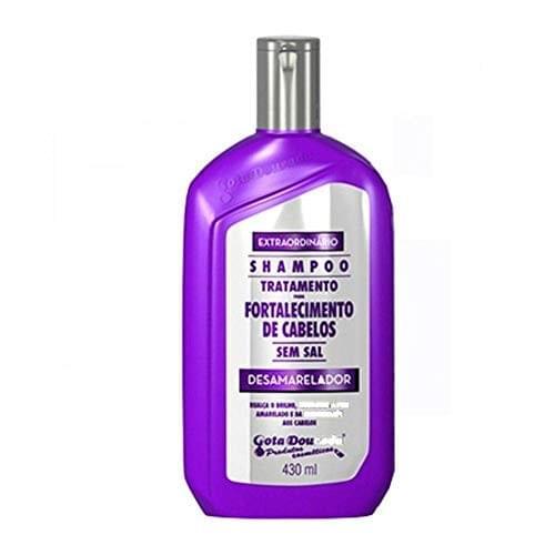 Imagem de Shampoo uso diário gota dourada 430ml desamarelador