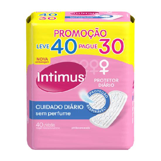 Imagem de Protetor diário sem abas intimus days l40p30 sem perfume l40p30