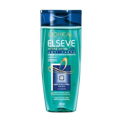 Imagem de Shampoo anti caspa elséve 200ml hydra detox zero caspa